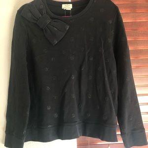 KATE SPADE glitter dot bow sweatshirt ✨